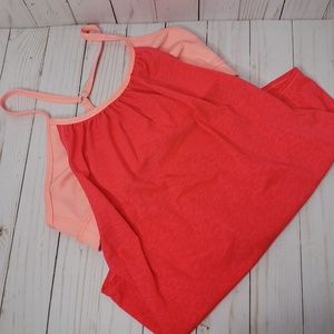 Zella Pink Orange Neon Workout Tank
